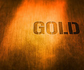 Gold word — Stock Photo