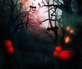 Dark Forest Halloween — Stock Photo