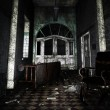 Dark Asylum Interior  — Stock Photo