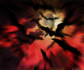 Scary Bats Halloween Backdrop — Stok fotoğraf