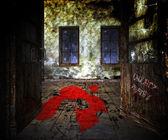 Blood on the Floor Halloween — Stock Photo