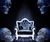 Dark Halloween illustration — Stock Photo