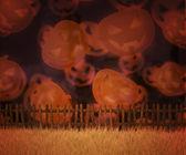 Víspera de todos los santos naranja — Foto de Stock