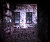 Dark Room Halloween — Stock Photo