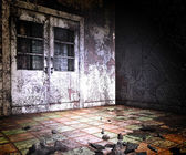 Abandoned Building Halloween — Stock Photo