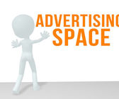 White Men Advertising Space — Stock Photo
