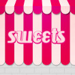 Sweets Awning — Stock Photo