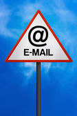 Email Traffic Sign — Stock Photo