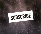 Subscribe Spider Web — Stock Photo