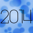 2014 New Year Blue Image — Stock Photo #35748869