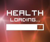Health Loading Screen — Stock Photo