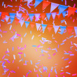 Orange Celebration Background — Stock Photo