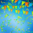 Blue Celebration Background — Stock Photo