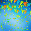 Stock Photo: Blue Celebration Background