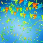Blue Celebration Background — Stock Photo