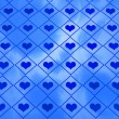 Blue Hearts Abstract Texture — 图库照片
