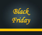 Black Friday Gold Letters — Foto Stock