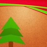 Christmas Tree Vintage Backdrop — Stock Photo