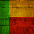 Benin Flag on Wood — Stockfoto #36521999