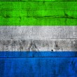 Sierra Leone Flag on Wood — Lizenzfreies Foto