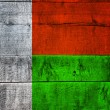 Madagascar Flag on Wood — Stock Photo