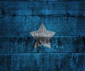 Somalia Flag on Wood — Stock Photo