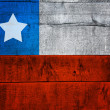 Chile Flag on Wood — Stock Photo