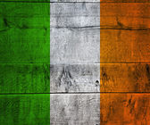 Ireland Flag on Wood — 图库照片
