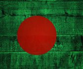 Bangladesh Flag on Wood — Stock Photo