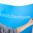 Architecture On Blueprint — Stock Photo