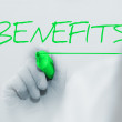 Benefits — Foto de Stock