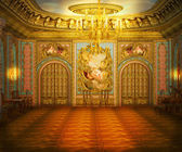 Gold Castle Room — Stock Photo