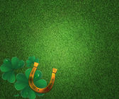 St Patricks Day Grass Background — Stock Photo