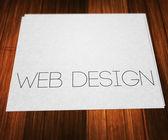 Diseño web en papel — Foto de Stock