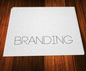 Branding on Paper — Stock Photo