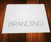 Branding on Paper — ストック写真