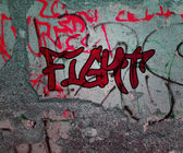 Fight Graffiti — Stock Photo