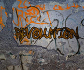 Revolution Graffiti — Stock Photo