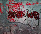 Stop War Graffiti — Foto Stock