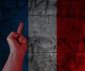 Anti rivoluzione francese — Foto Stock