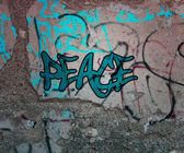 Peace Graffiti — Stockfoto
