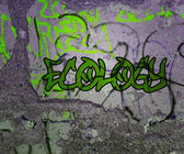 Ecology Graffiti — Stock Photo