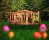 Easter Premade Green Backdrop — Stock Photo