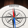 Profits by compass — Stock Photo