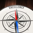 Stock Photo: Excellence by compass