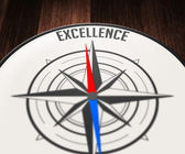 Excellence by compass — Stock Photo