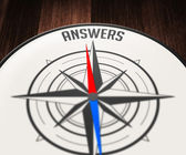 Answers by compass — Stock Photo