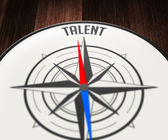 Talent word by Compass — Stock Photo