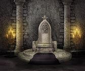 Stone throne — Stockfoto