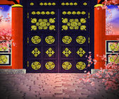 Chines gate — Stock Photo